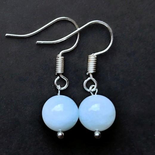 Akvamarin fülbevaló, extra kék