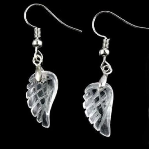 Hegyikristály angyalszárny fülbevaló