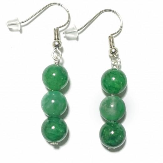 Jade fülbevaló,  zöld