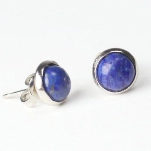 Lápisz lazuli bedugós fülbevaló