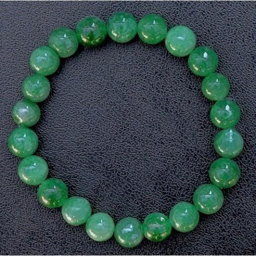 Jade karkötő, zöld