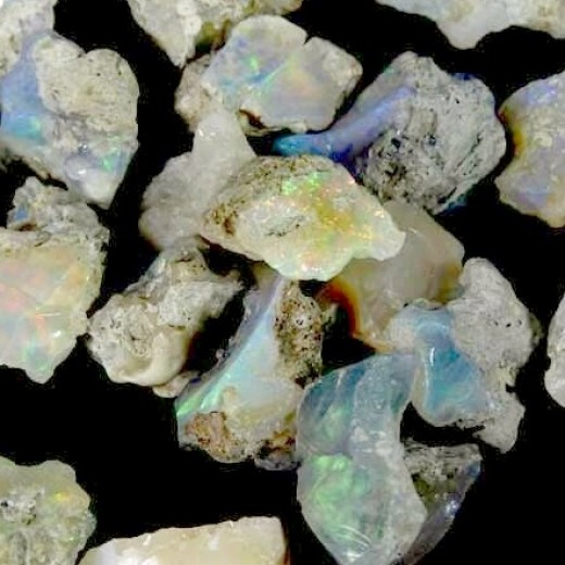 Etióp szivárvány opál ásvány