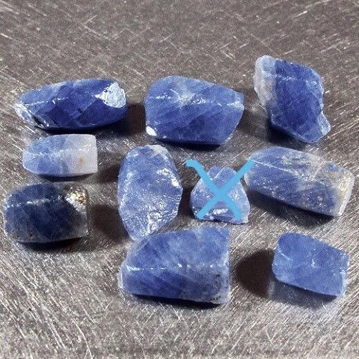 Zafír marokkő, kék (eredeti zafír), apró