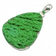 Zöld kvarc medál, ezüst