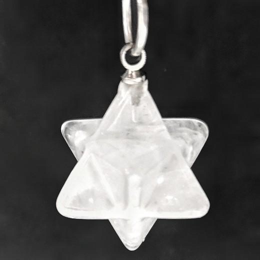 Hegyikristály merkaba medál