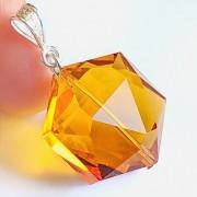 Andara kristály medál, aranysárga