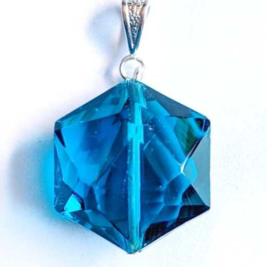 Andara kristály medál, óceán kék