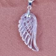 Hegyikristály angyalszárny medál