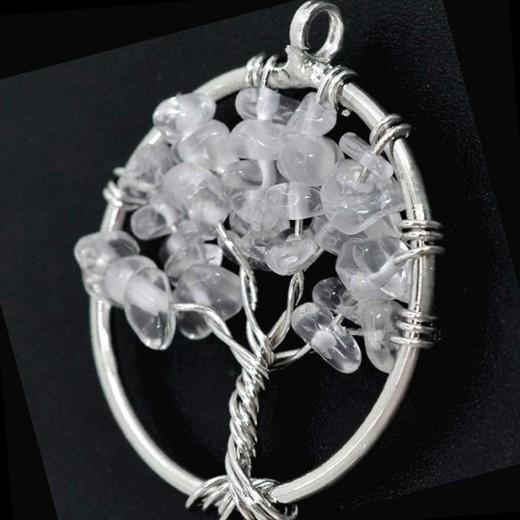 Hegyikristaly életfa medál
