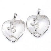 Hegyikristály szív medál