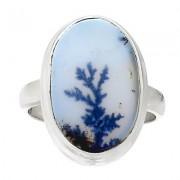 Dendrites achát gyűrű, ezüst