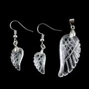 Hegyikristály szárny medál + fülbevaló szett