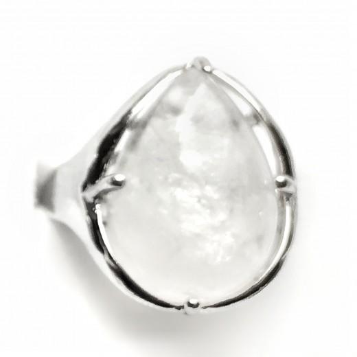 Hegyikristály gyűrű, állítható méret