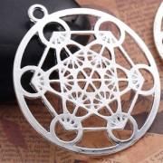 Szakrális medál gyógyító szimbólummal, kabbala