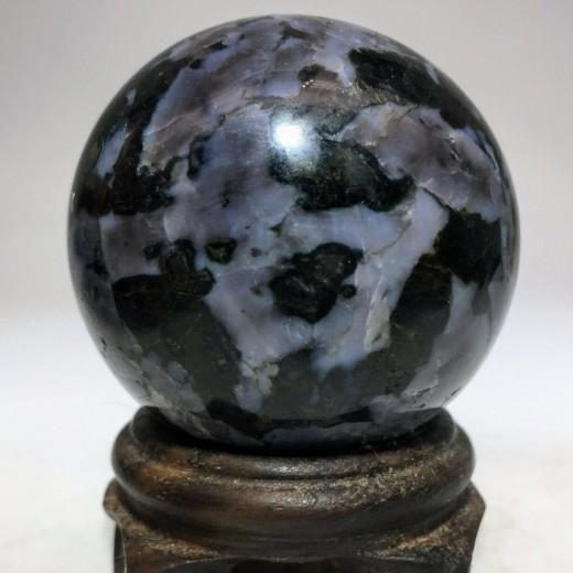 Indigo Gabbro ásvány gömb + ajándék állvány